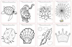 Tracing Pictures - Pre Writing Skills Worksheets