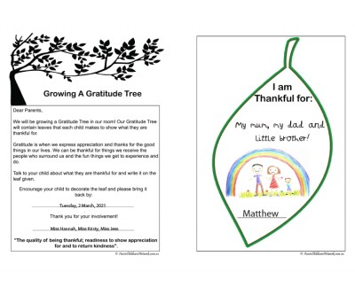 Growing A Gratitude Tree