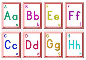 Alphabet Flashcards - Classic Alphabet Letter