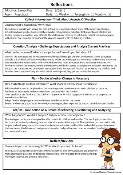 Educator Reflections Template