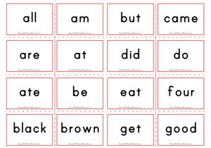 Dolch Flashcards - Primer Sight Words