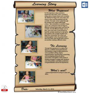 Learning Story Template For Educators