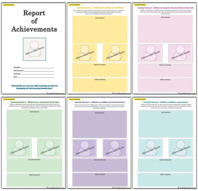 Report of Achievements - End of Year Template