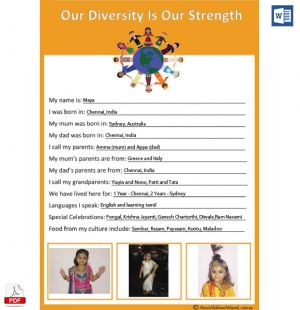 Harmony Day Template - Parent Input Form