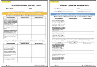 Performance Appraisal and Development Planning Templates