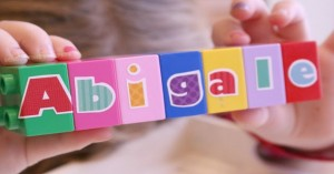 Build A Name With Duplo