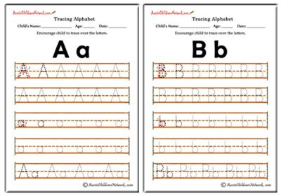 Tracing Alphabet Worksheets