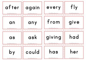 Dolch Flashcards - First Grade Sight Words