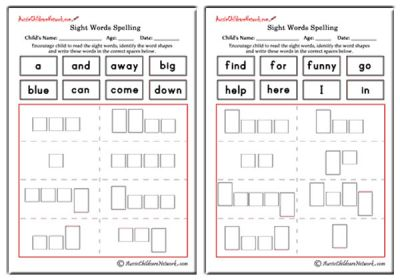 pre primer sight words shapes and spellings aussie childcare network. Black Bedroom Furniture Sets. Home Design Ideas