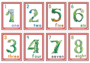 Number Flashcards - Flowers Theme