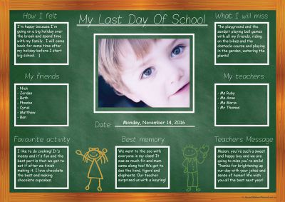 Last Day of School Farewell Template