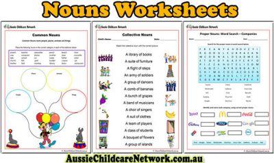 Introducing new Noun Worksheets for Children - Aussie Childcare ...