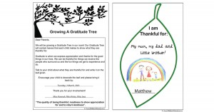 Growing A Gratitude Tree Free Parent Input Template