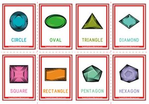 Shapes Flashcards - Gems