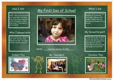 My First Day of School Template