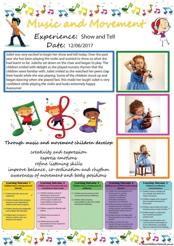 Music And Movement Observation Template
