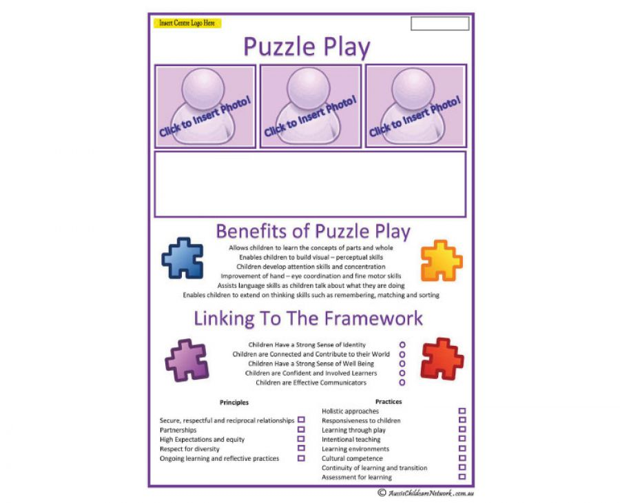 Interest Area Puzzle Play Aussie Childcare Network
