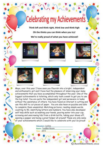 Celebrating My Achievements Child Portfolio Template