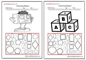 Colouring Shapes - Squares