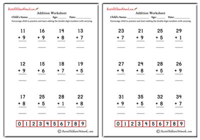 Addition Worksheets With Carrying. With Carrying Addition ...
