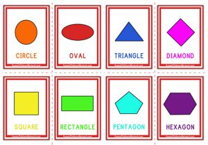 image relating to Free Printable Shape Flashcards known as Reducing Styles - Aussie Childcare Community