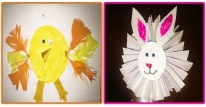 Easter Bunny and Chick Craft For Kids