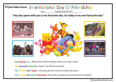 Friendship Day Child Portfolio Template