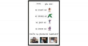 Superhero Father's Day Portfolio Template