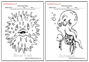 Sea Animals Colouring Pages