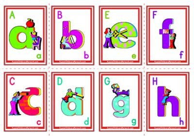 Alphabet Flashcards - Lowercase Alphabet - Aussie ...