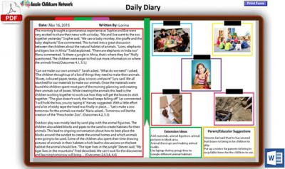 New Daily Diary Template Now Available  Daily Diary Template