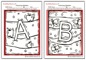 Colouring Alphabet - Uppercases