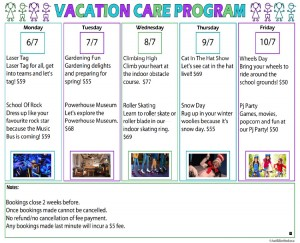 Vacation Care Program