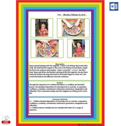 Photo Observation Rainbow Template