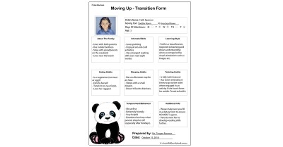 Moving Up - Transition Form Template