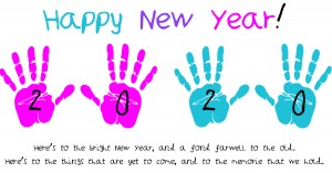 New Year Hand Prints