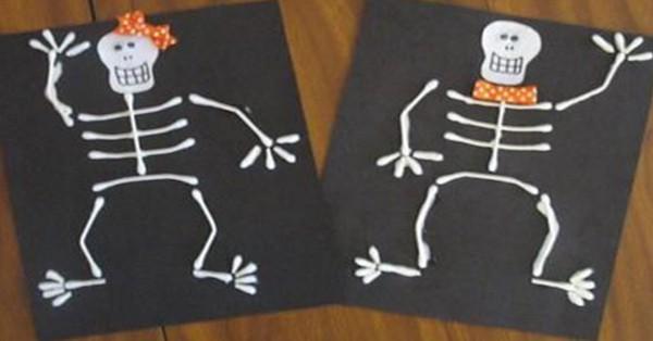 cotton bud skeletons