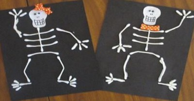 Cotton Bud Skeletons