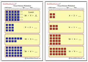 Visual Division Worksheets (No Remainders)