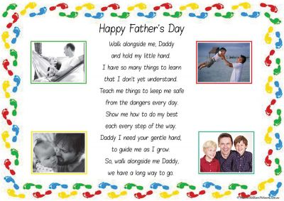 Father's Day Footprints Template