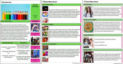 Monthly Newsletter Template Aussie Childcare Network