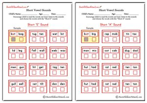 Choose the Short Vowel Sound