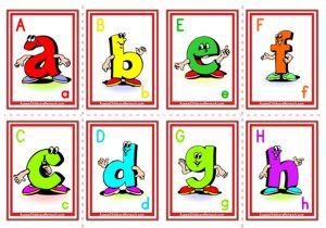 Alphabet Flashcards - Lowercase Cartoon Letter