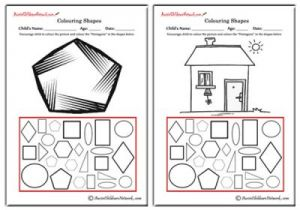 Colouring Shapes - Pentagons