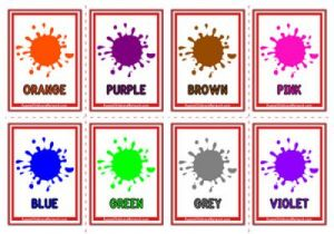 Colours Flashcards - Paint Drops