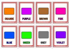 Colour Words Flashcards - Classic