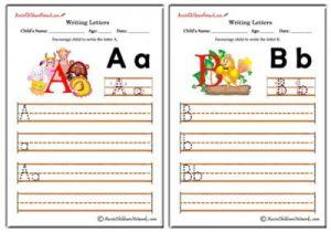 Writing Alphabet - Animals Theme