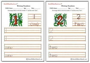 Writing Numbers - Flowers Theme