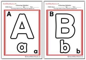 Colouring Alphabet - Classic Theme