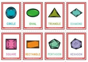 Shapes Flashcards - Gems